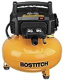 BOSTITCH Pancake Air Compressor, Oil-Free, 6 Gallon, 150 PSI...