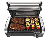 Hamilton Beach Electric Indoor Searing Grill with Viewing...