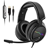 Jeecoo Stereo Gaming Headset for PS4, Xbox One S - Noise...