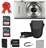 Crystal Canon Elph 180 Point and Shoot Camera Bundle (Silver...