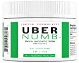Uber Numb 5% Lidocaine Topical Numbing Cream, 2 Ounce,...