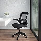 Flash Furniture Mid-Back Black Mesh Swivel Ergonomic Task...