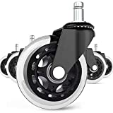 Office Chair Caster Wheels Set of 5 Heavy Duty & Safe for...
