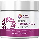 ACTIVSCIENCE Neck Firming Cream, Anti Aging Moisturizer for...