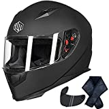 ILM Full Face Motorcycle Street Bike Helmet with Removable...