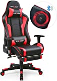 GTRACING Gaming Chair with Footrest and Bluetooth Speakers...