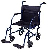 Carex Transport Wheelchair With 19 inch Seat - Folding...