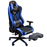 Ergonomic Gaming Chair with Footrest, Video Game Chair with...