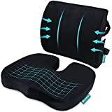 Coccyx Orthopedic Seat Cushion and Lumbar Support Pillow for...