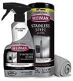 Weiman Stainless Steel Cleaner Kit - Fingerprint Resistant,...
