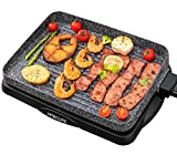Electric Grill Indoor Korean BBQ Barbecue Flat Tabletop...