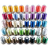 New Brothread 40 Brother Colors Polyester Embroidery Machine...
