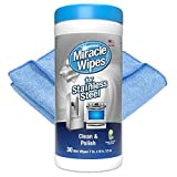 MiracleWipes for Stainless Steel, Cleaner Wipes for Kitchen...