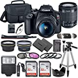 Canon EOS Rebel T7 DSLR Camera Bundle with Canon EF-S...