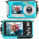 Waterproof Digital Camera Underwater Camera Full HD 2.7K 48...