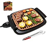 Nonstick Electric Indoor Smokeless Grill - Portable BBQ...