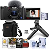 Sony ZV-1 Compact 4K HD Digital Camera, Black Bundle with...
