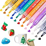 12 Colors Acrylic Paint Markers Paint Pens for Rocks, Wood,...