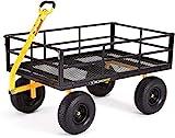 Gorilla Carts GOR1400-COM Heavy-Duty Steel Utility Cart with...