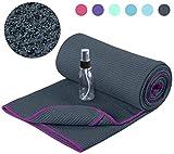 Heathyoga Non Slip Yoga Towel, Exclusive Corner Pockets...