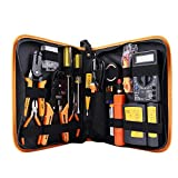 Network Tool Kit Set of 17 Ethernet Cable Crimper Punch Down...