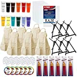 U.S. Art Supply Sip and Paint Art Party Painting Kit - 6...