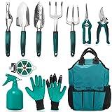 FiveJoy Garden Tool Set, 11 Piece Aluminum Alloy Steel Hand...