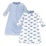 Hudson Baby unisex baby Cotton Long-Sleeve Sleeping Bag,...