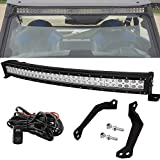 30' 180W Curved LED Light Bar Spot/Flood Combo Beam w/Wiring...