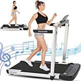ANCHEER Folding Treadmill with Remote Control 2.25HP,...