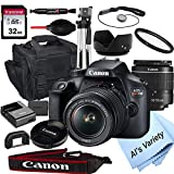 Canon EOS Rebel T100 DSLR Camera with 18-55mm f/3.5-5.6 Zoom...