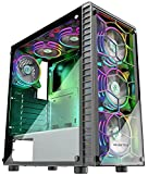 MUSETEX 6pcs 120mm ARGB Fans and USB3.0 ATX Mid-Tower...