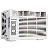 Amazon Basics Window-Mounted Air Conditioner with Mechanical...