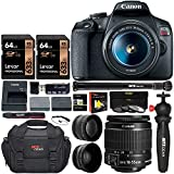 Canon EOS Rebel T7 DSLR Camera Travel Bundle with 58mm 2X...