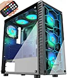 MUSETEX Phantom Black ATX Mid-Tower Case with USB 3.0 and 6...