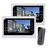JeaTone 10 Inch TFT Wired Video Door Phone Intercom Security...