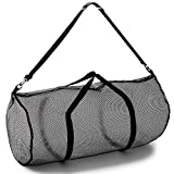 Champion Sports Mesh Duffle Bag with Zipper and Adjustable...