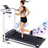 ANCHEER Folding Treadmill, Treadmills for Home with LCD...
