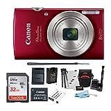 Canon PowerShot ELPH 180 20 MP Digital Camera (Red) + 32GB...