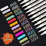 Sunshilor Metallic Markers Fine Point Metallic Marker Pens...