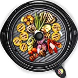 Maxi-Matic Smokeless Indoor Electric BBQ Grill with Glass...