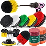 Poobii 30 Pieces Drill Brush Set, Power Scrub Brush with...