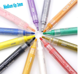 Akarued acrylic paint marker pens