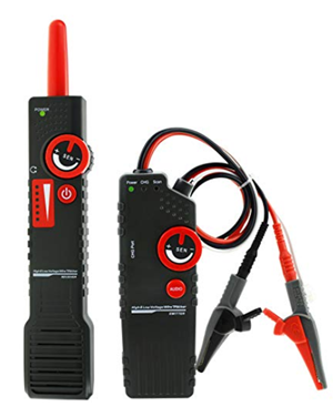 Antijamming underground cable tracker