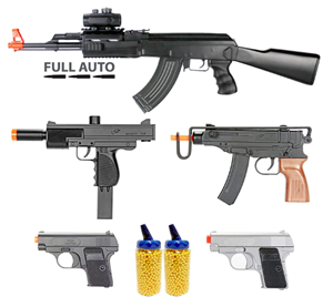 Bbtac airsoft guns complete package