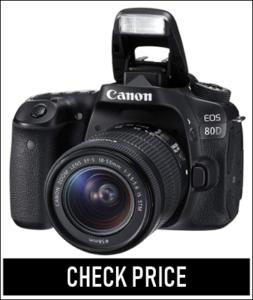 Canon EOS 80D Digital SLR Kit with EF-S 18-55mm f/3.5-5.6 Image Stabilization STM Lens - Black (Renewed)1