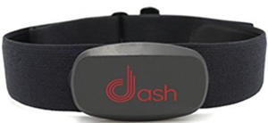 Dash wearables chest strap heart rate monitor