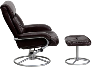Flash furniture recliner with foot extension