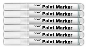 Flymax paint pen acrylic white permanent markers