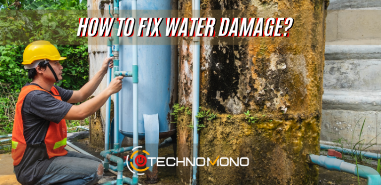How to fix water damage